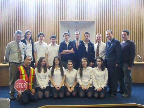 Bialik traffic committee visit to city hall Darryl1