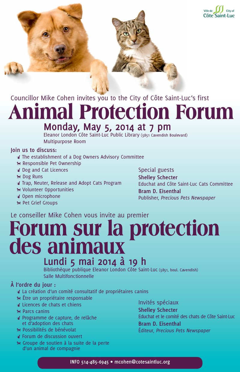 Animal Protection Forum poster 11x17 2014-04