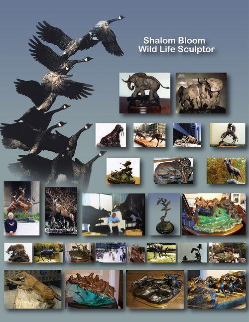 Shalom Bloom wildlife scultures