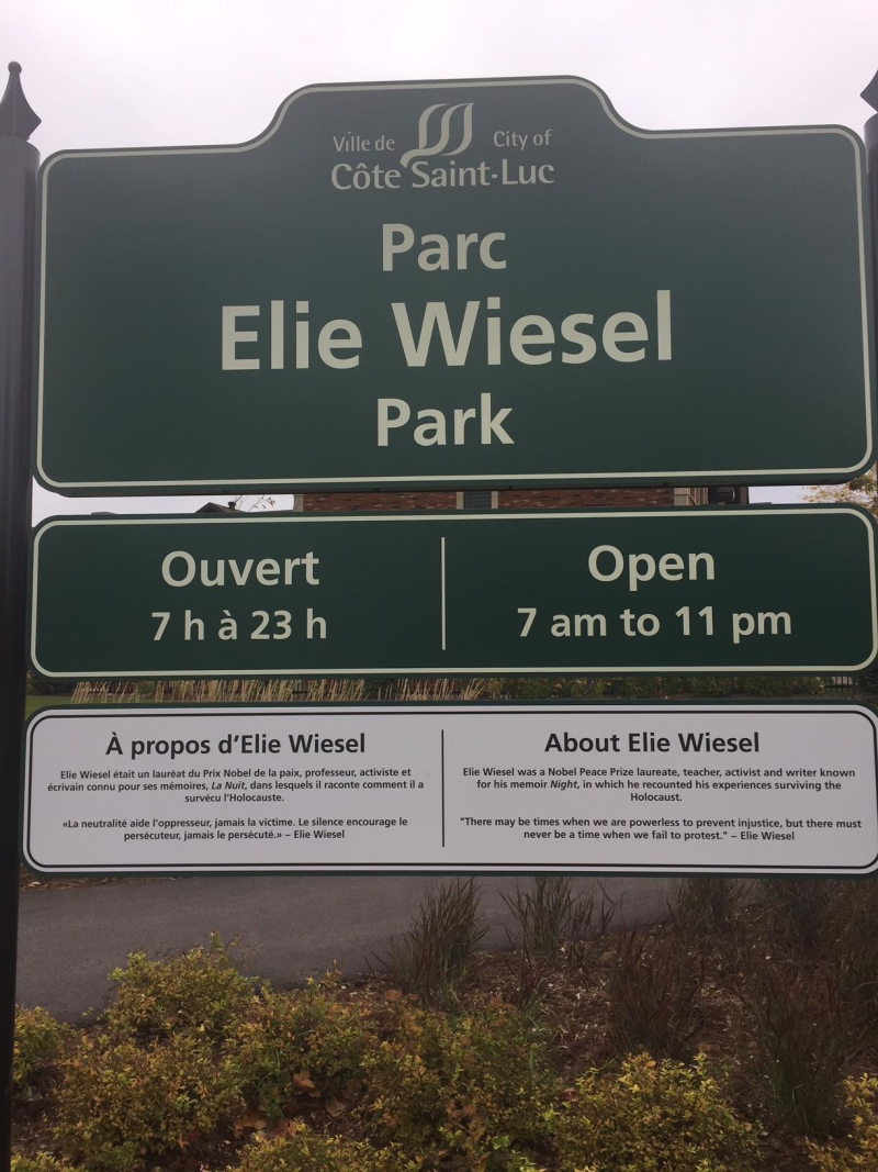 Elie Wiesel sign