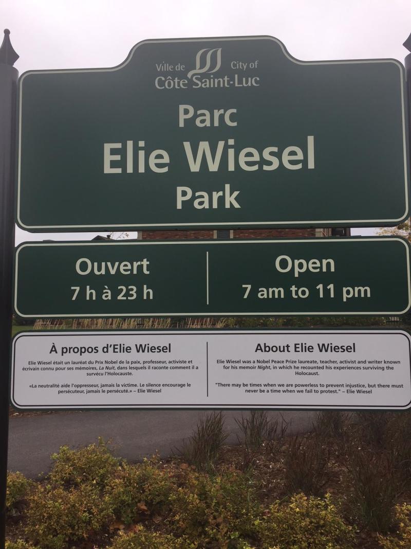 Elie Wiesel sign
